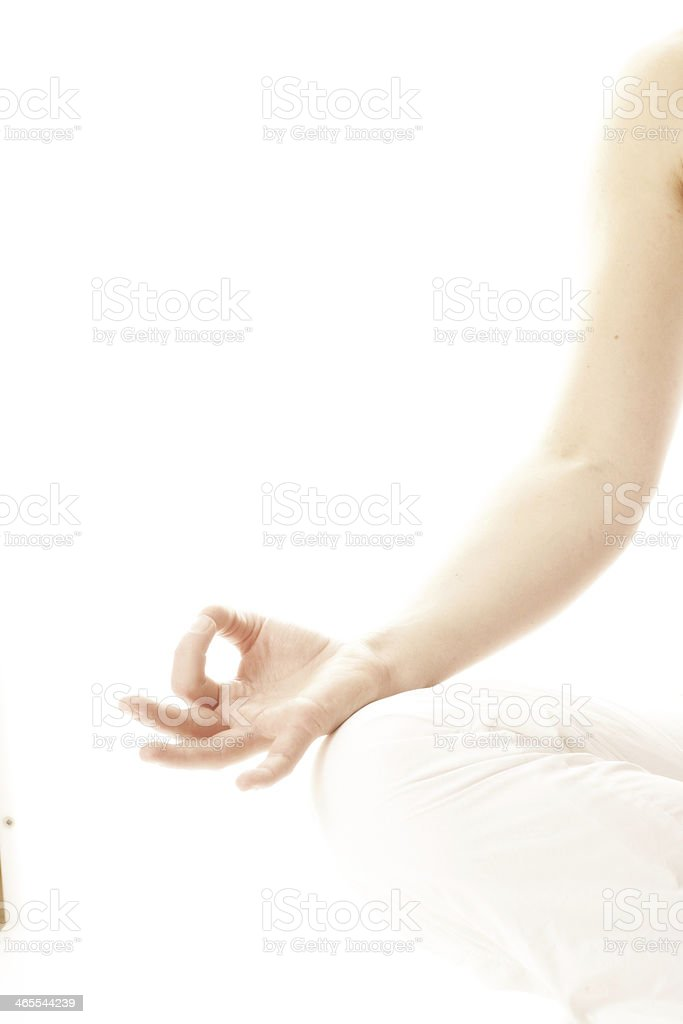 yoga hand isolated stock photo