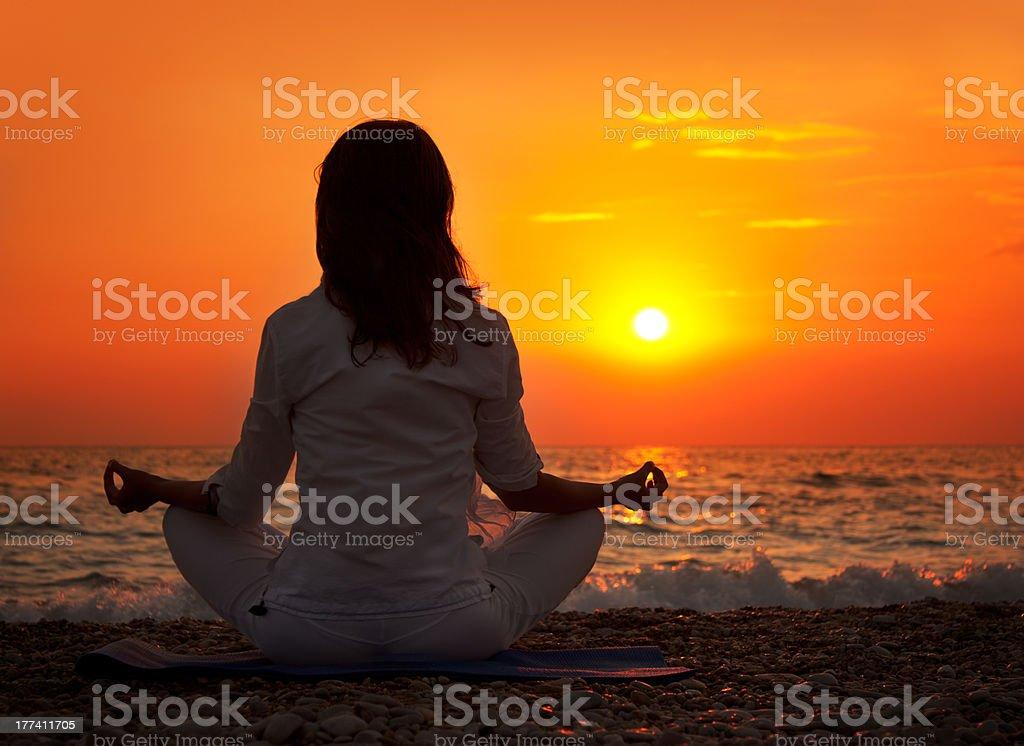 Yoga hand royalty-free stock photo