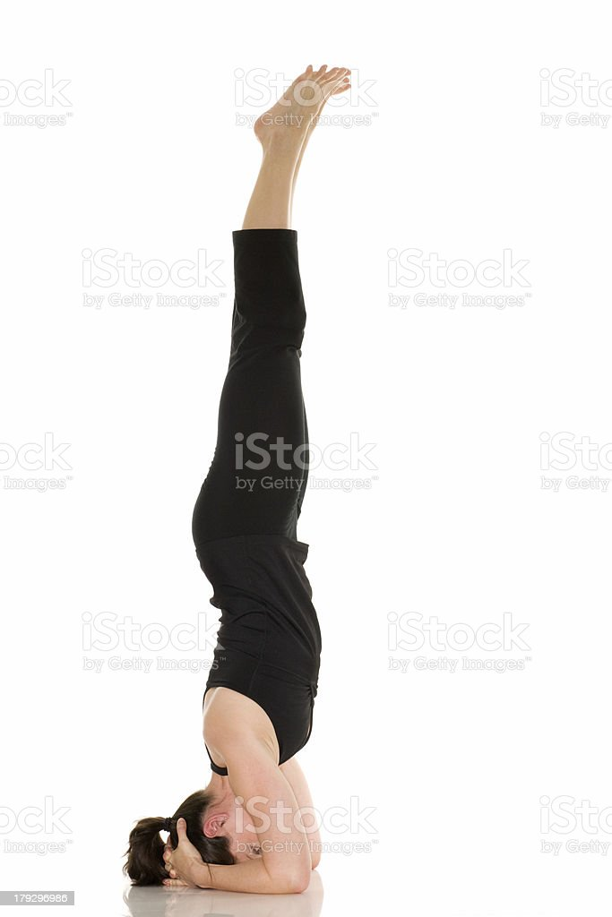 Yoga - Headstand Pose royalty-free stock photo