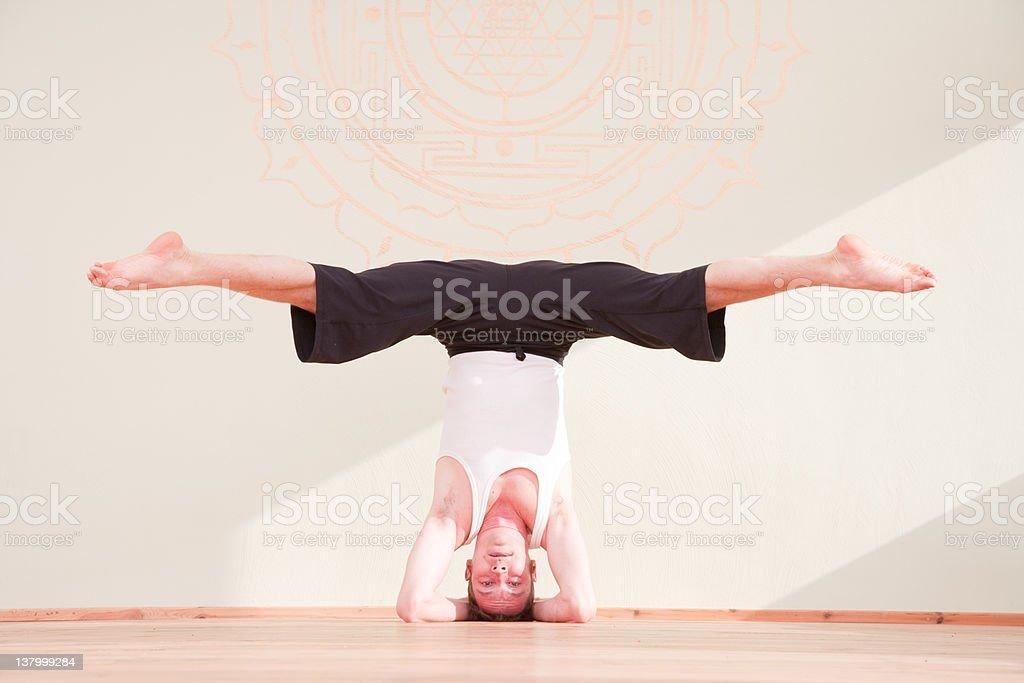 Yoga In A Studio royalty-free stock photo