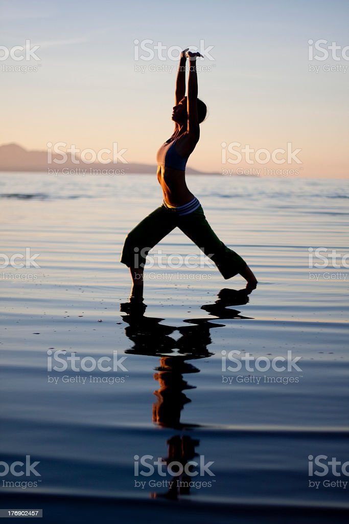 Yoga in the water royalty-free stock photo