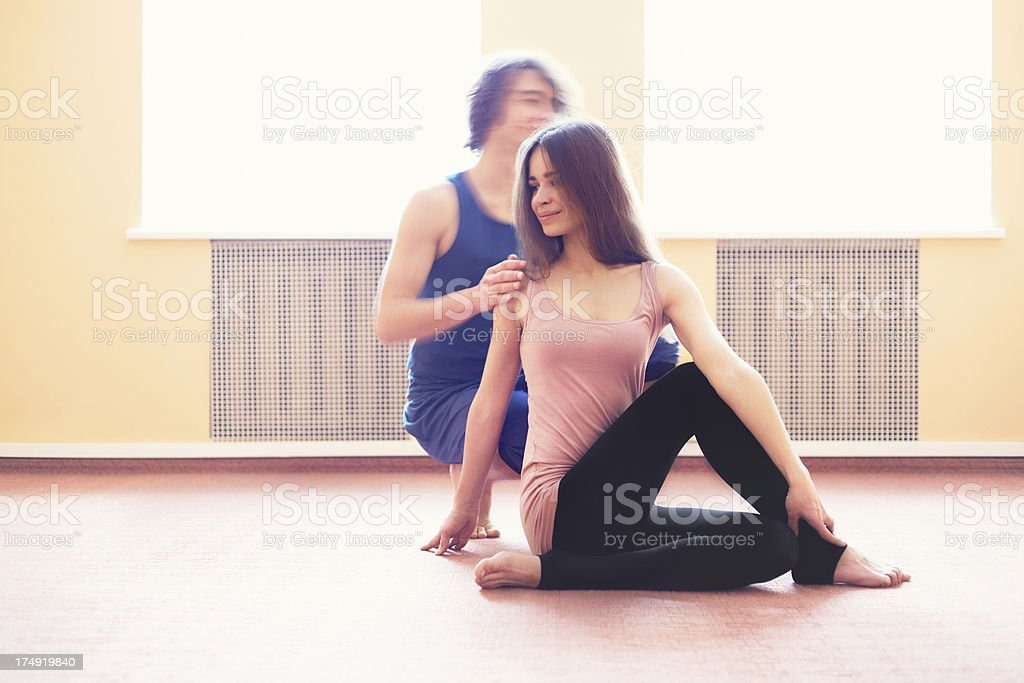 Yoga Instructor royalty-free stock photo