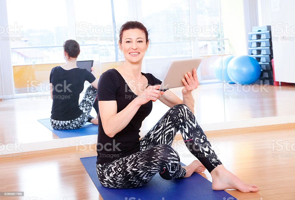 Yoga instructor portrait stock photo