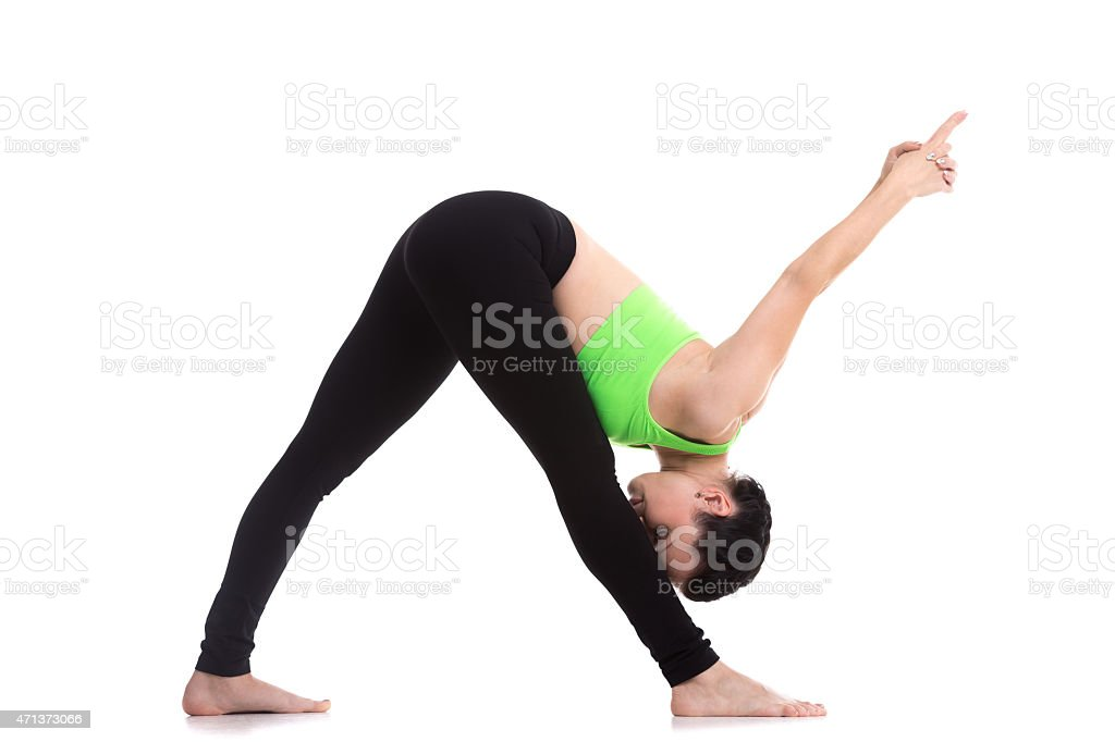 Yoga Intense Side Stretch Pose stock photo