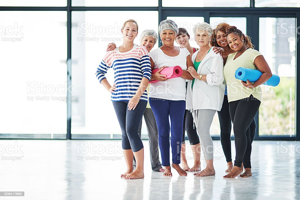 Yoga is for everyone! stock photo