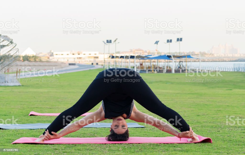 Yoga is not just about flexibility, its about willingness stock photo