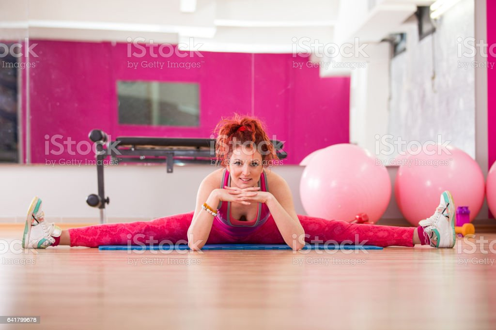 Yoga is the best way to start the day stock photo