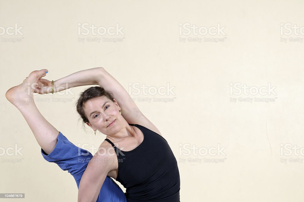 Yoga Master royalty-free stock photo
