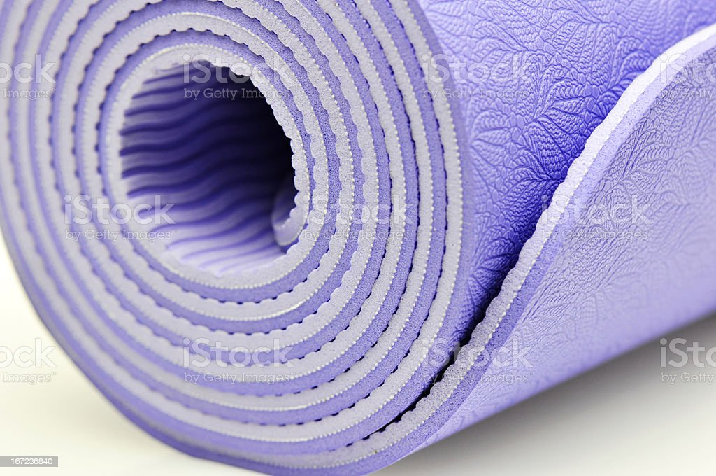 yoga mat royalty-free stock photo