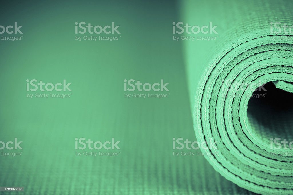 Yoga Mat with Copy Space stock photo