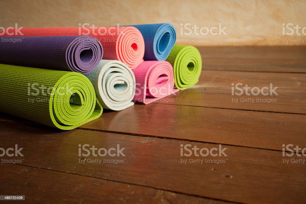 Yoga Mats stock photo