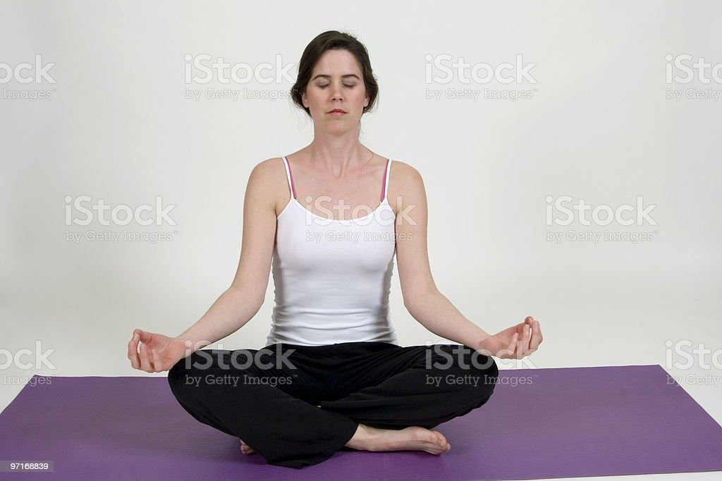 Yoga mediation royalty-free stock photo
