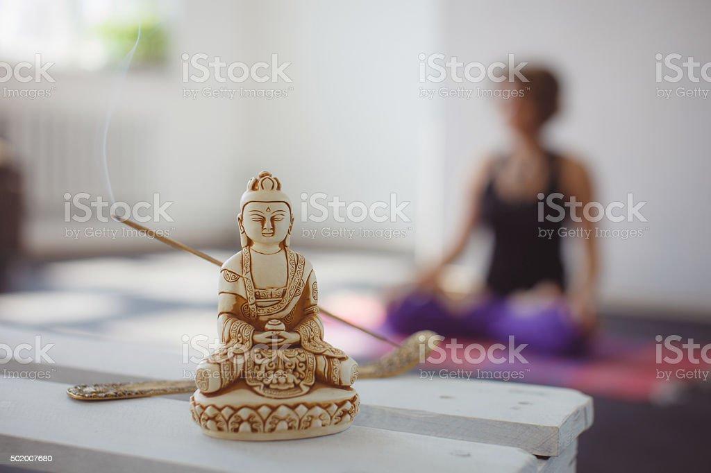 Yoga meditation and relax stock photo