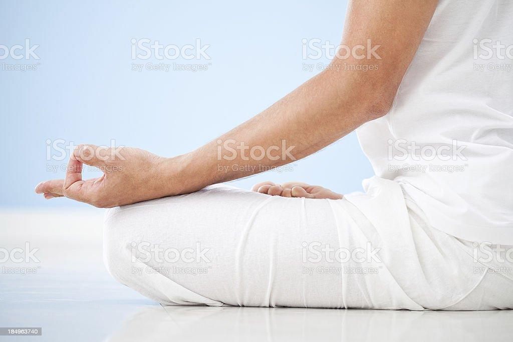 Yoga: Meditation stock photo