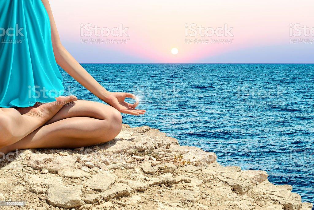 Yoga, méditation photo libre de droits