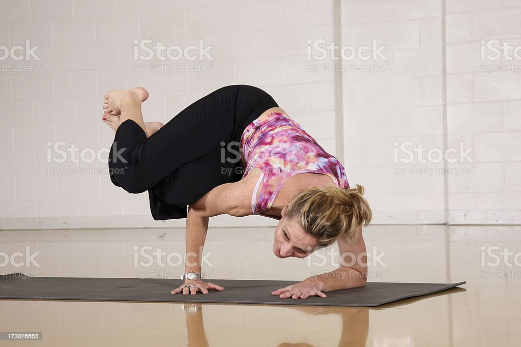 Yoga move  See other images from shoot. royalty-free stock photo