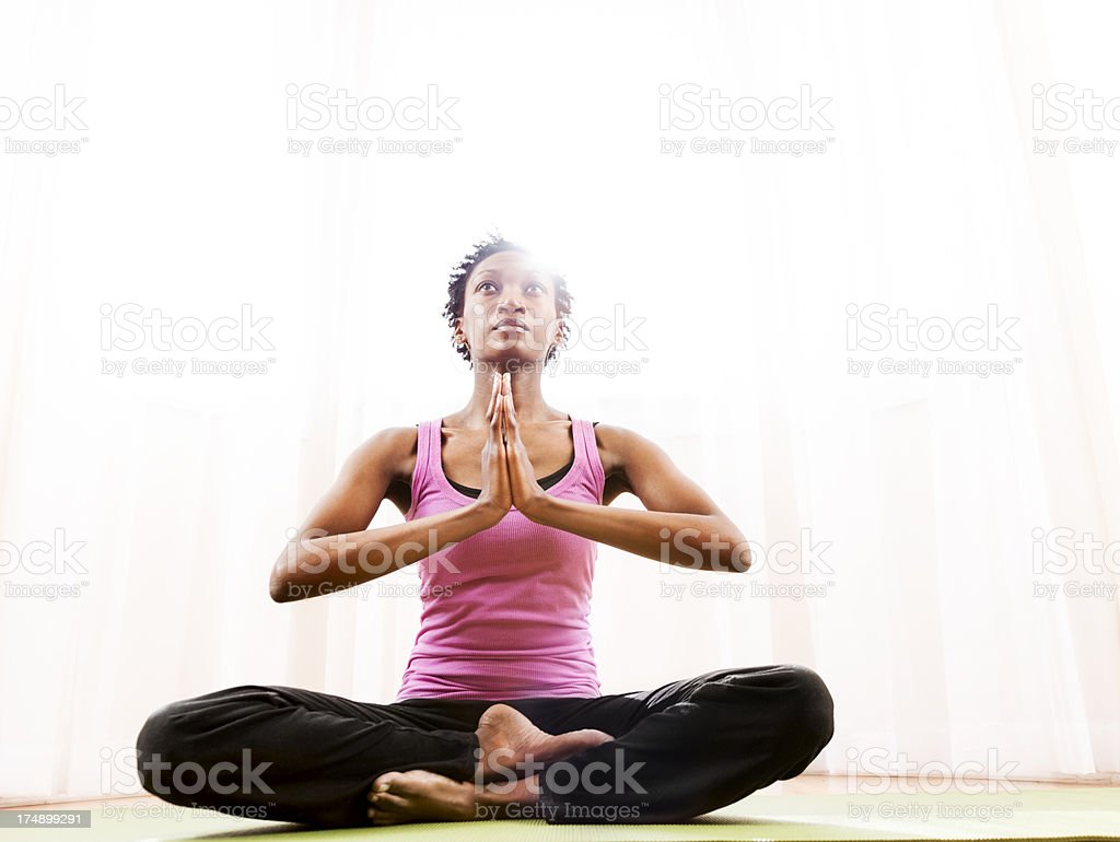 Yoga, Namaste royalty-free stock photo