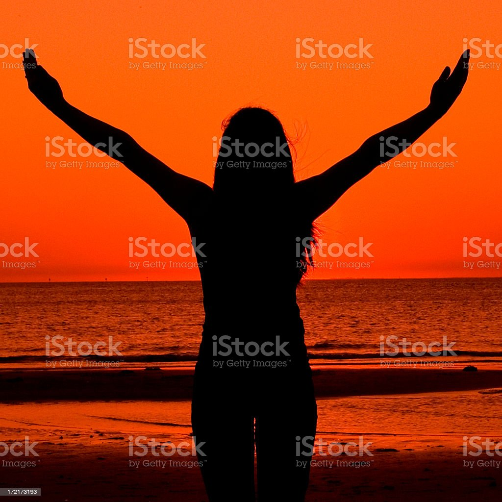 Yoga on the beach 8 royalty-free stock photo