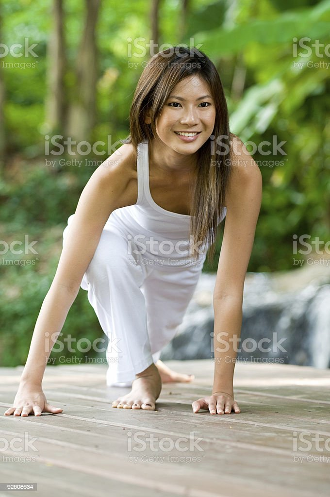 Yoga Outdoors royalty-free stock photo