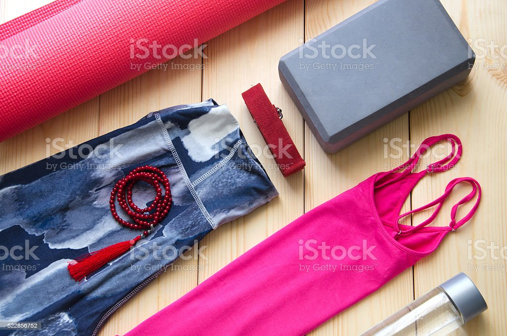 Yoga outfit stock photo
