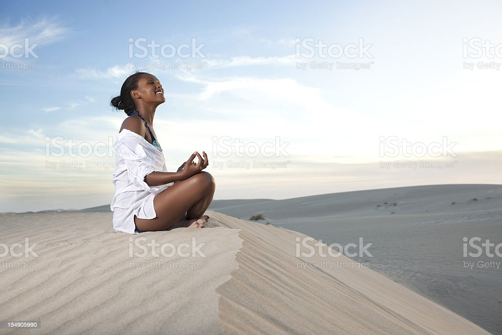 Yoga physical and mental relaxation. royalty-free stock photo