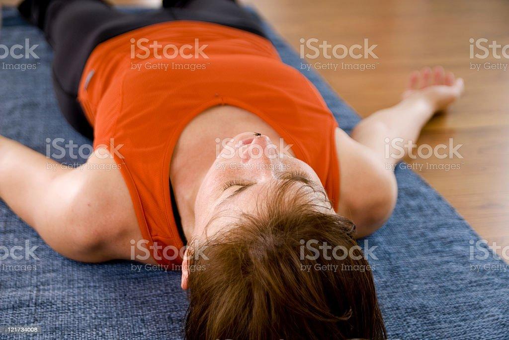 Yoga (Savasana) stock photo