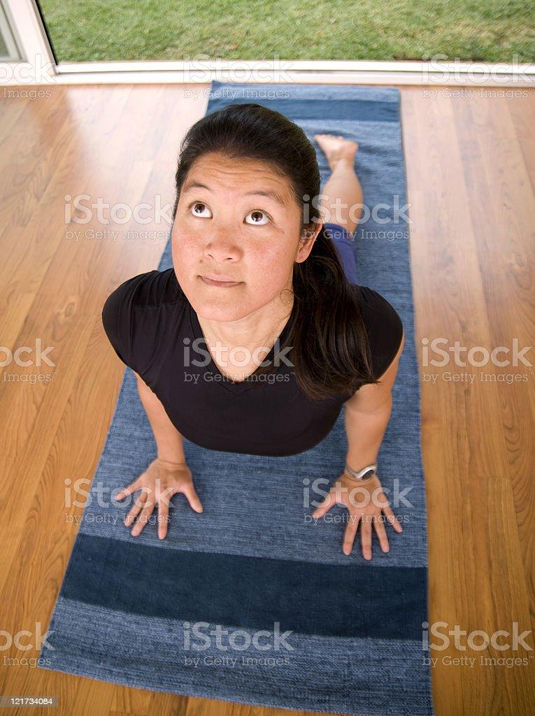 Yoga (Upward Dog) stock photo