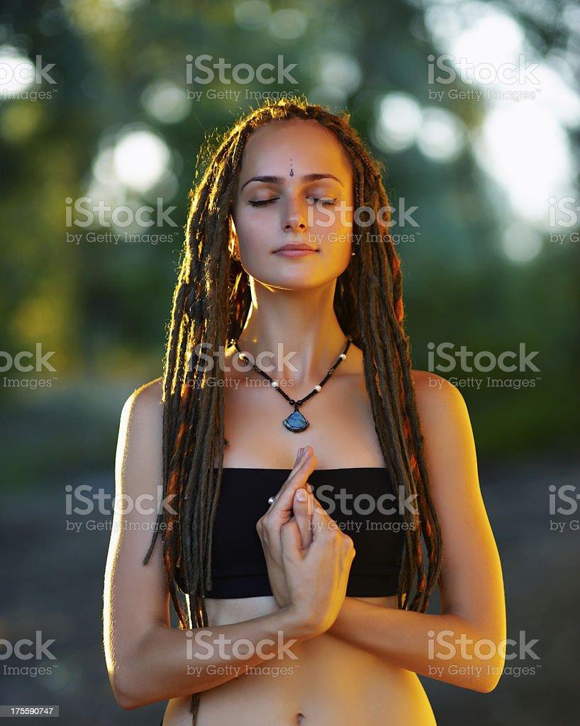 Yoga (mudra) stock photo