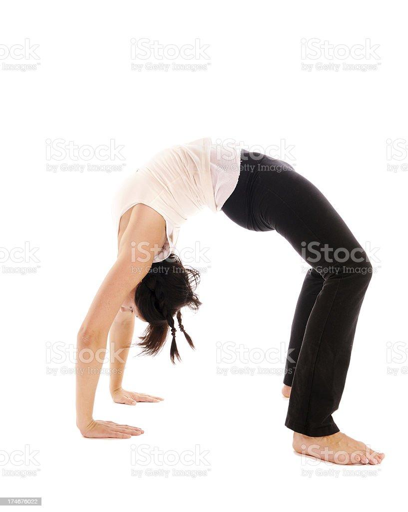 Yoga  Pilates Wheel Pose royalty-free stock photo