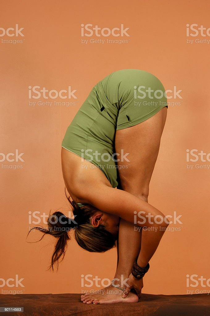 Yoga Pose Full Bend stock photo