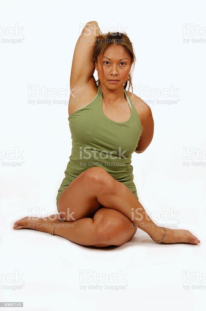 Yoga Pose Legs Crossed royalty-free stock photo