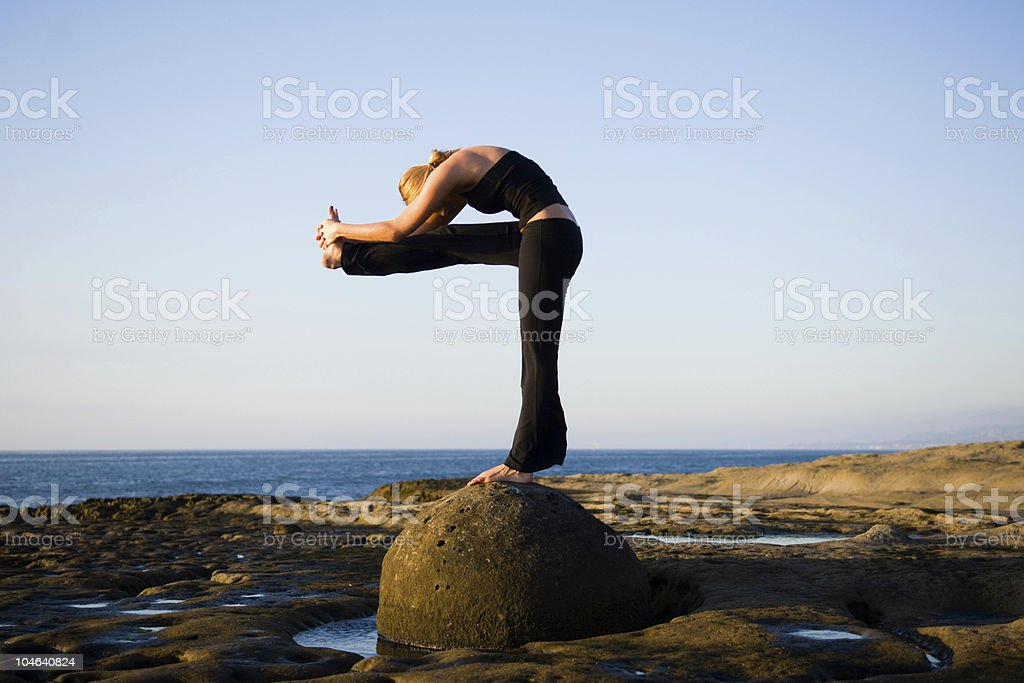 Yoga Pose royalty-free stock photo