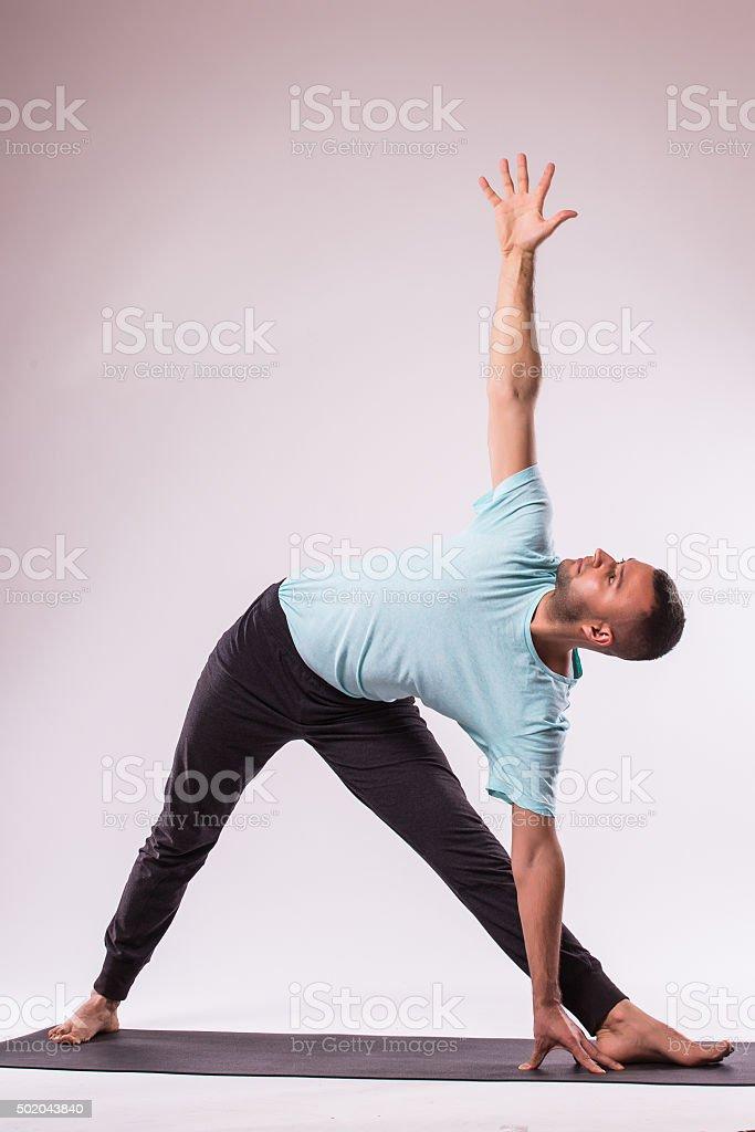 Yoga pose stock photo