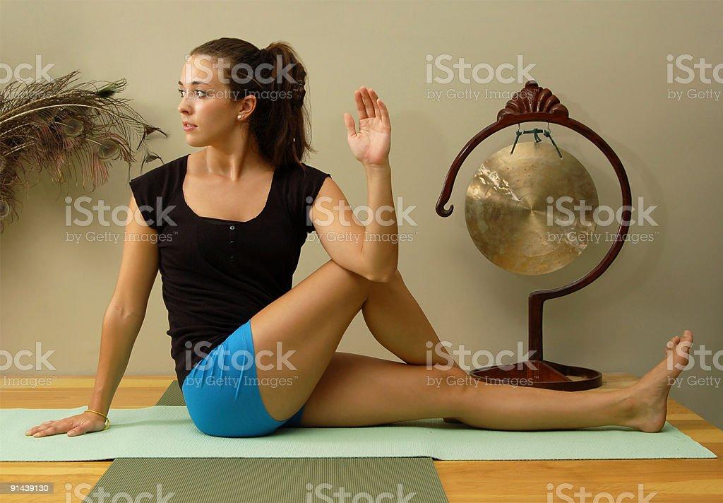 Yoga Pose royalty-free stock photo