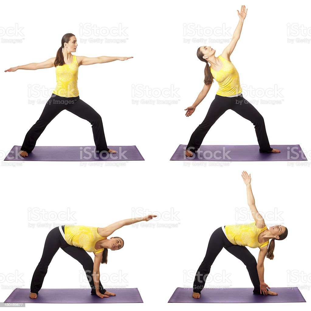 Yoga Pose Series stock photo