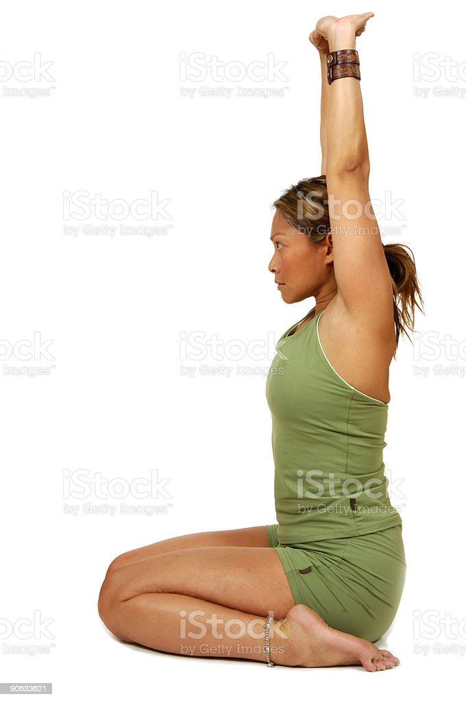 Yoga Pose Upward Stretch royalty-free stock photo