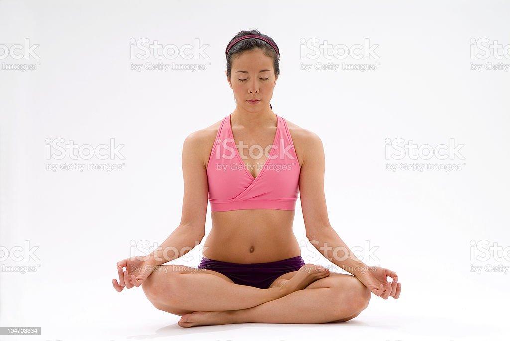 Yoga position 2 stock photo