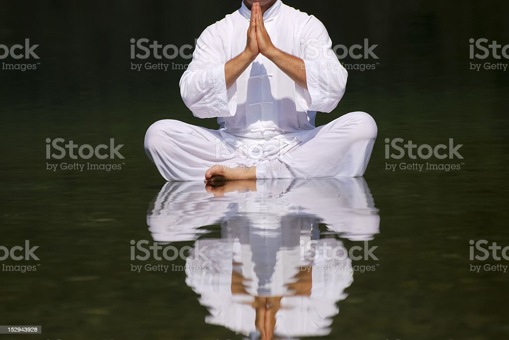 Yoga position royalty-free stock photo