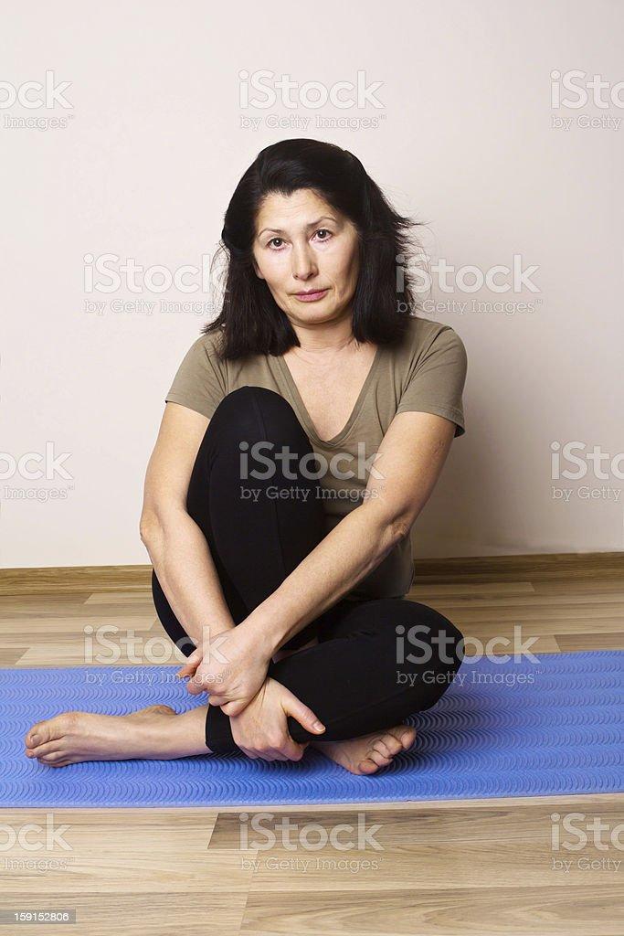 Yoga position royalty-free stock photo