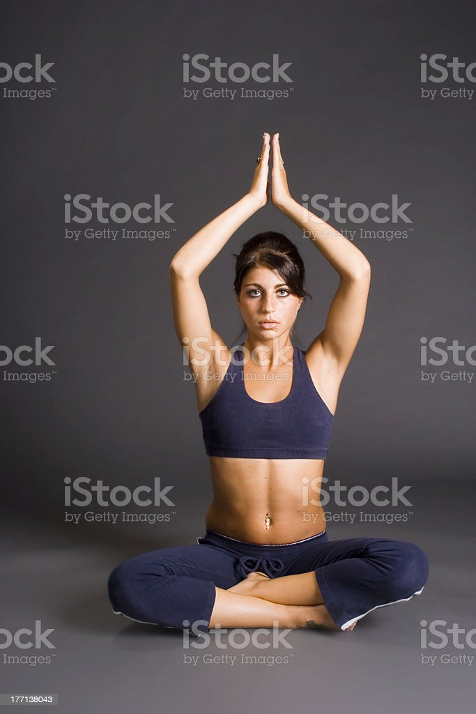 Yoga Practice royalty-free stock photo