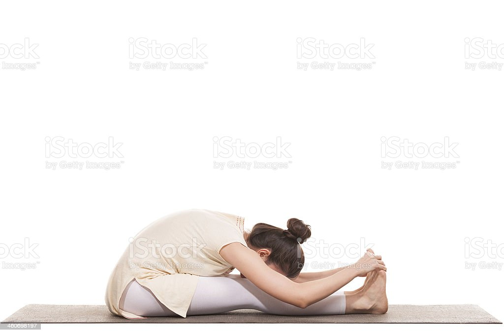 Yoga practice stock photo