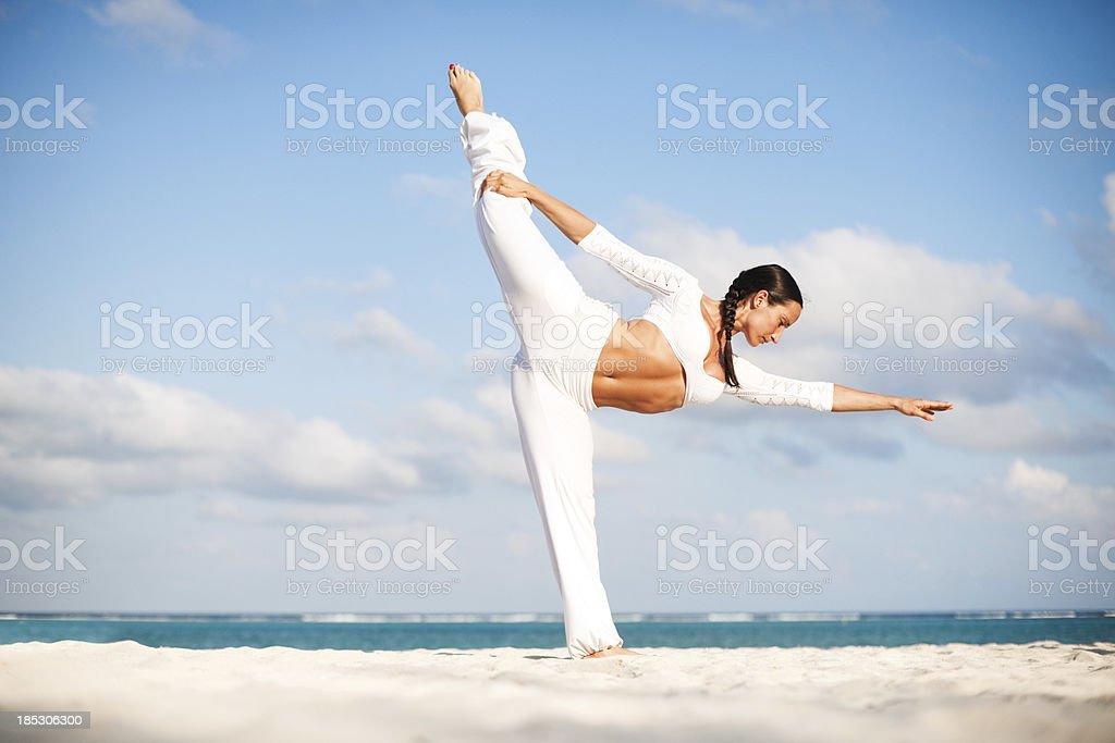 Yoga practise royalty-free stock photo