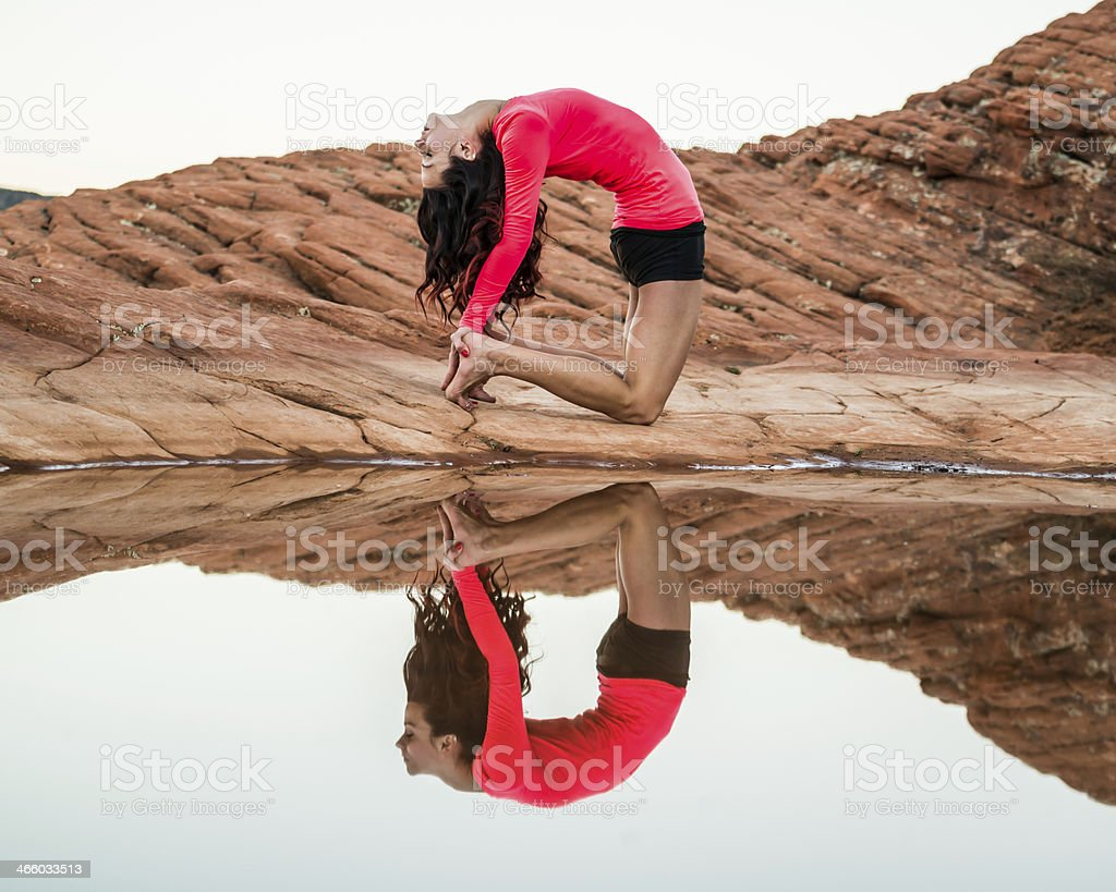 Yoga Reflection royalty-free stock photo