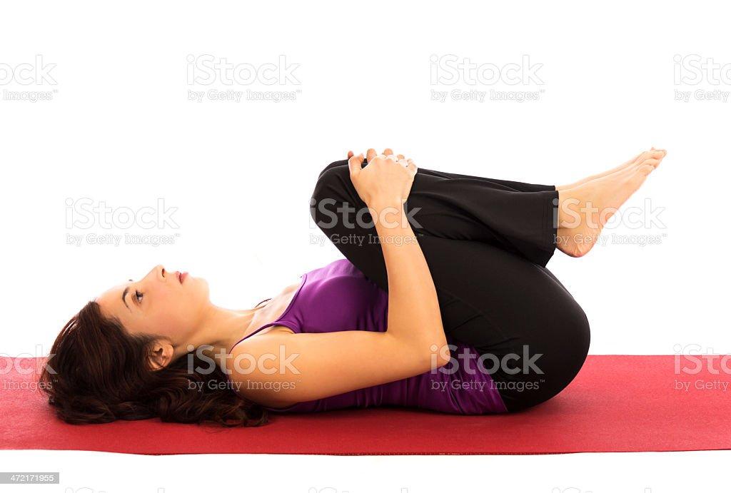 Yoga relaxation Pose stock photo
