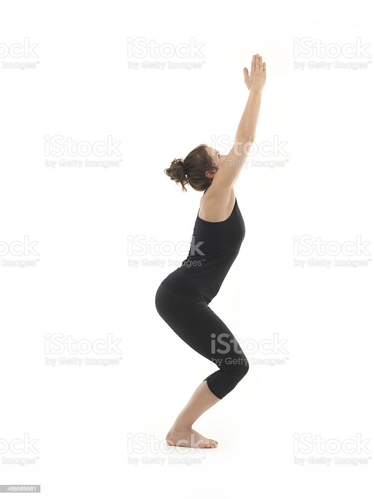yoga rutine stock photo