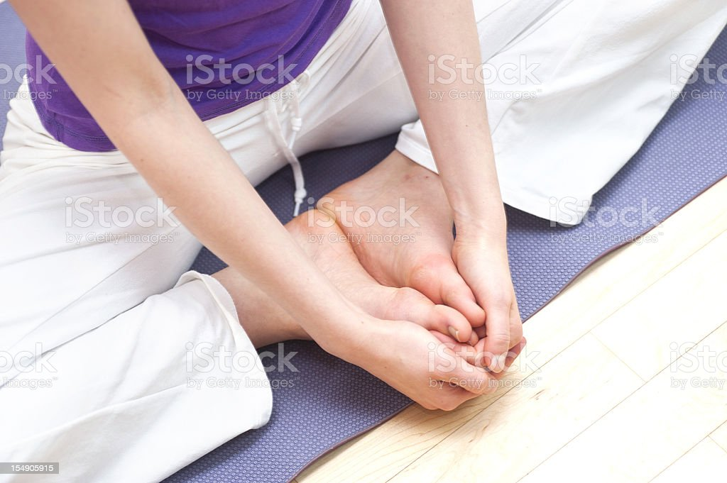 yoga seat stock photo