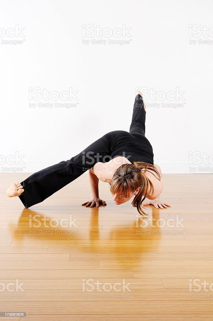 Yoga Series: Arm Stretch stock photo