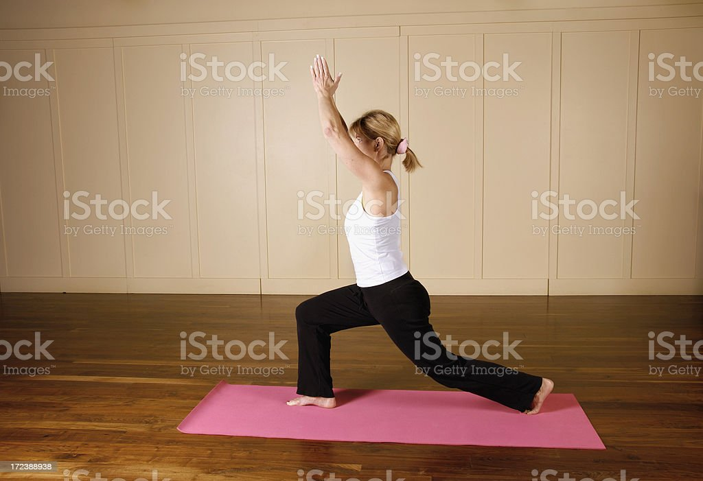 Yoga Series - Crescent Lunge royalty-free stock photo