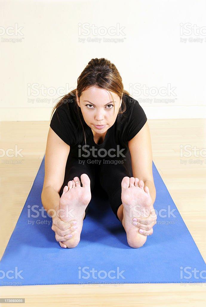 Yoga Series: Determination stock photo