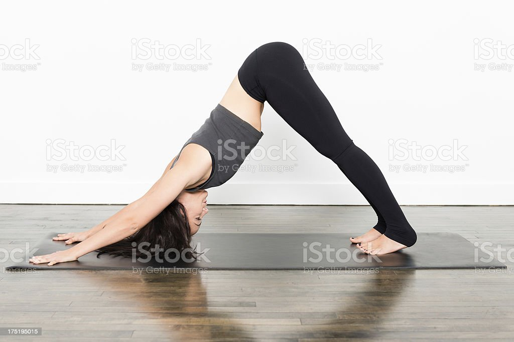 Yoga Series - Downward Dog stock photo